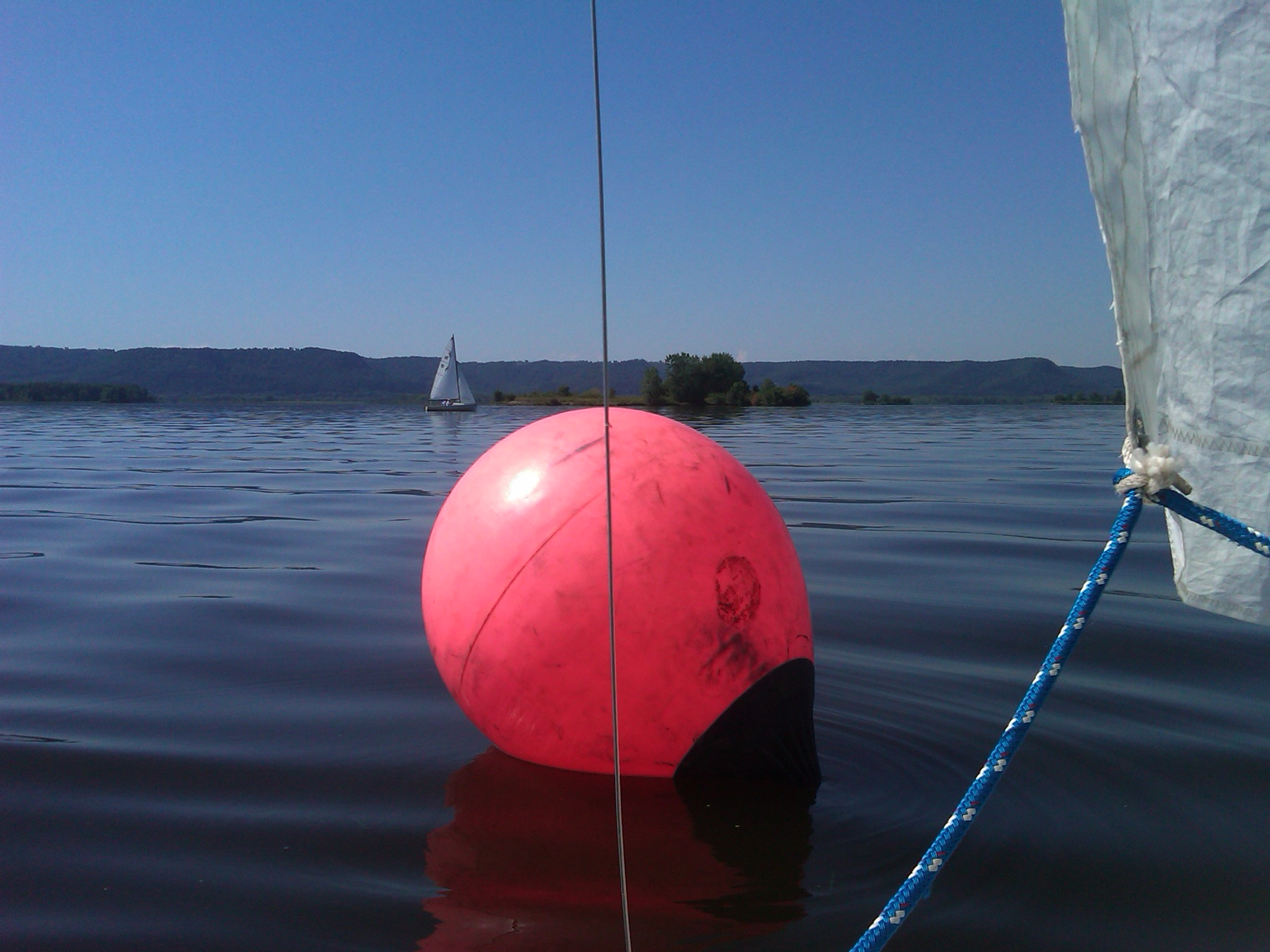 stalled at a racing buoy